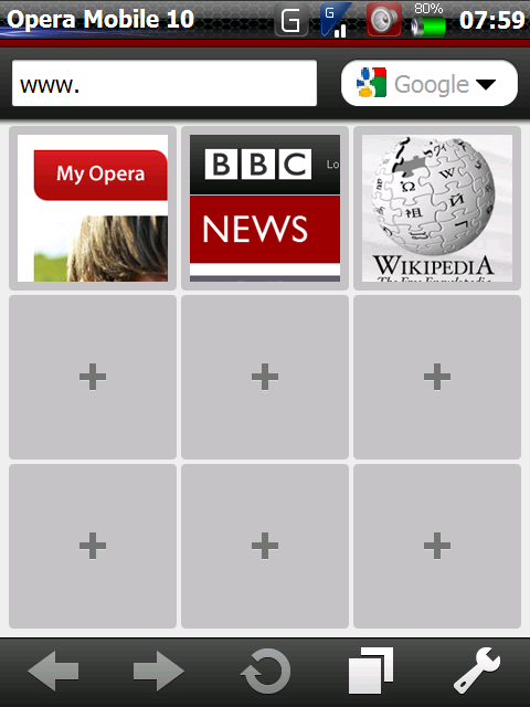 Screen0011 Handy Browser Opera Mobile 10 beta1 für Windows Mobile zum Download verfügbar