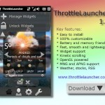 Throttlelauncher - Alternative Oberfläche für Windows Mobile (Theme / Skin)